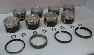 Speed Pro trw Ford 428 Super Cobra Jet Forged Coated Pistons moly Ring Kit Std