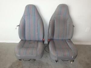 1997 2002 Jeep Wrangler Seats Front Rear Manual Cloth Driver Passenger