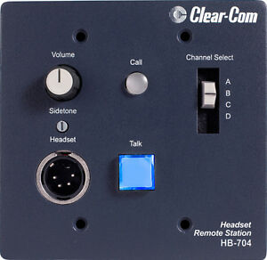 Clear com Hb 704 Four channel Selectable Flush mount Headset Station