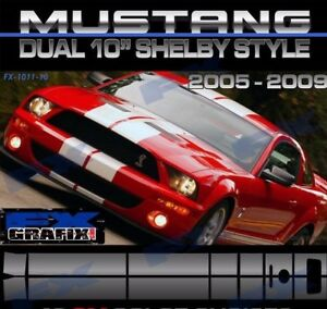 2005 2009 Ford Mustang Shelby Lemans Roush Style Super Stripes Top Quality