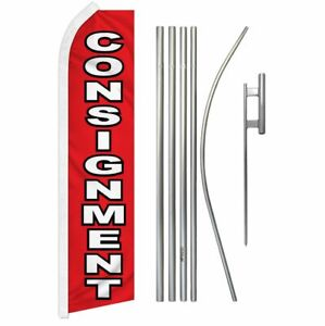 consignment Super Flag 16ft Pole Set 5 Piece Kit Ground Spike O Tire Mount