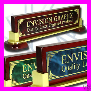 Large Personalized Custom Desk Name Plate Design Gift pick You Brass Color