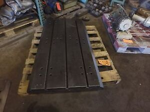 53 875 X 30 X 4 5 Steel Welding 3 T slotted Table Cast Iron Layout Plate