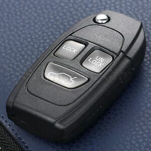 3 Buttons Remote Flip Keyless Entry Remote Key Case Shell Fob For Volvo S60 S80
