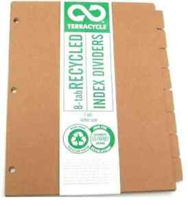 Terracycle Recycled 8 Tab Dividers case Of 48