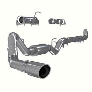Mbrp Single Install Series 4 Dp Back Stack Exhaust For Gm Duramax 6 6l 01 07