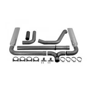 Mbrp Dual Stack Install W Tips 4 Tb Exhaust For Ford Powerstroke 7 3l 99 03