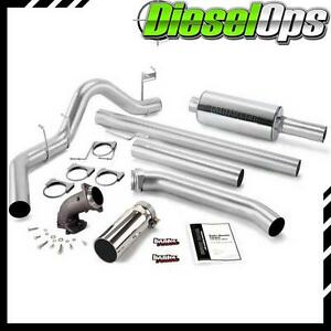 Banks Power Monster Exhaust W Power Elbow Chrome For Dodge Ram 5 9 Ext Cab 98 02