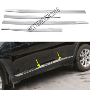 Fits 2014 2020 Jeep Cherokee Abs Chrome Body Side Door Molding Cover Trim Decor
