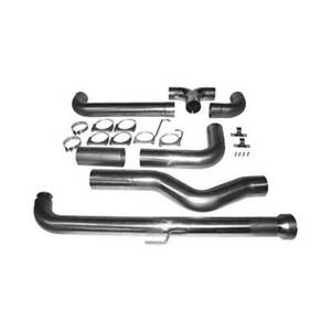 Mbrp Dual Aluminized 5 Dp Back Smokers Stack Kit For Gm Duramax 6 6l 01 2007