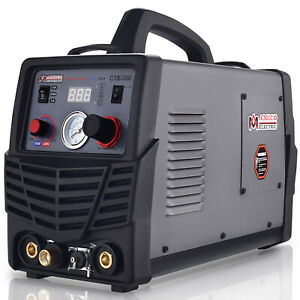 Cts 200 200 Amp Tig Stick Arc Dc Welder 50 Amp Plasma Cutter 3 in 1 Combo