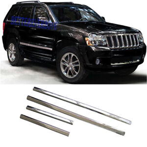 Fit For 2005 2009 Jeep Grand Cherokee Chrome Body Side Molding Cover Accessories