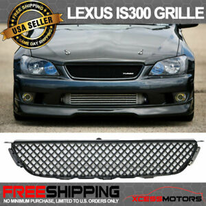 For 01 05 Lexus Is300 Badgeless Abs Black Front Upper Hood Mesh Grille Grill