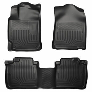 Husky Weatherbeater Front 2nd Seat Floor Liners Black For Toyota Venza 09 11