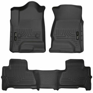 Husky Liners Weatherbeater Front 2nd Floor Mats Blk For Gm Yukon suburban 15 18
