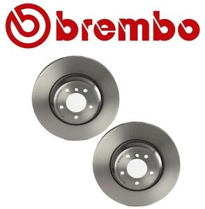 Pair Set Of 2 Front Disc Brake Rotors Brembo 09a59911 For Bmw 335d 335i 335is