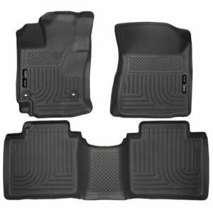 Husky Weatherbeater Front 2nd Seat Floor Liners Black For Toyota Venza 2015