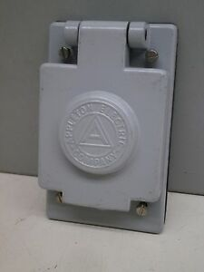 Appleton Fsk wt2 Weatherproof Wet Location Aluminum Cover For Toggle Switch