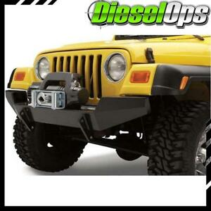 Bestop Highrock 4x4 Front Bumper Black Satin For Jeep Wrangler 1997 2006