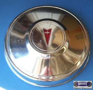 68 72 Pontiac Gto Used 10 1 2 Poverty Dog Dish Hubcap Red Logo Dd0021