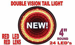 24 Led 4 Mirage Stop Turn Tail Light Red Led Red Lens