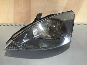 Ford Focus Headlight Lamp Assembly 00 01 02 03 04 Lh Drivers Oem Black