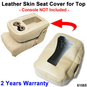 Leather Armrest Console Jump Seat Cover Top 07 13 Silverado Tahoe Sierra Tan
