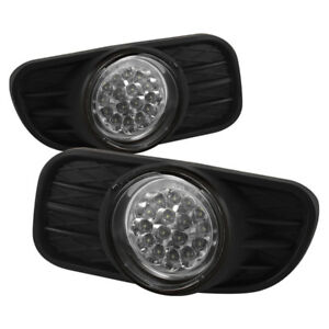 Spyder Clear Led Fog Lights W Switch For 99 04 Jeep Grand Cherokee 5015693