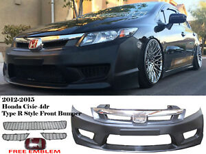 New 2012 2015 Honda Civic 9th Gen 4d Si Fg Jdm Type R Front Bumper type R Grill