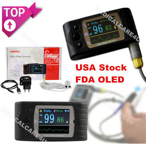 Fda Cms60c Finger Blood Oxygen Spo2 Monitor Tft Lcd sw Oled Pulse Oximeter Usa
