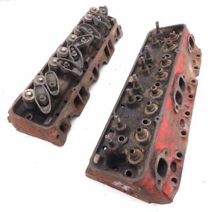 Chevelle Oem Sb 283 Powerpack Cylinder Head Pair 896 B 10 5 B 12 5 1962 1967