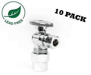 10 1 4 Turn Angle Stop Valve Compression 1 2 Cpvc X 3 8 od Lead Free
