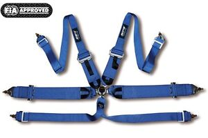 Hpi 6 Points Racing Seat Harness Blue Left