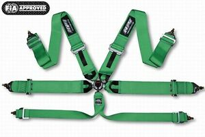 Hpi 6 Points Racing Seat Harness Green Left