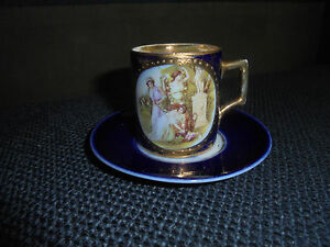Antique Beautiful Royal Vienna Teacup And Saucer 18 19th Century M