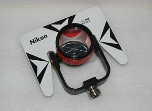 New Red Nikon Single Prism With Soft Bag For Nikon Topcon Total Station Stations