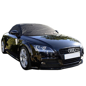238 Audi Tt Convertible Soft Top Roof Protector Half Cover Mk2 2006 To 2014