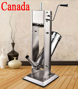 5l15lb Vertical Commercial Sausage Stuffer Stainless Steel Meat Fliier press New