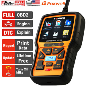 Foxwell Nt301 Check Engine Light Emission Test Eobd Obdii Scanner Code Reader
