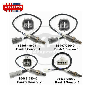 New Set Of 4 Oxygen Sensors O2 For Toyota Sienna 04 06 89467 48050 89465 08040