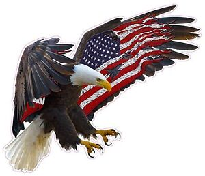 American Eagle American Flag Xx Large 36 X 31 Decal Free Shipping