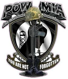 Pow Mia You Are Not Forgotten Large Decal 10 X 9 In Size