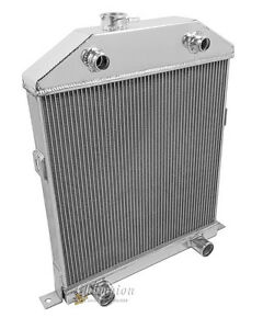 Flathead V8 Engine Conv 1942 1946 1947 1948 Ford Mercury 3 Row Dr Radiator