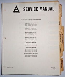 Allis Chalmers 608 611 616 Lawn Garden Tractor Service Shop Manual Original Ac