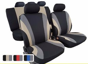 New Polyester Car Seat Cover Full Set 11pcs Fashion Rainbow Design