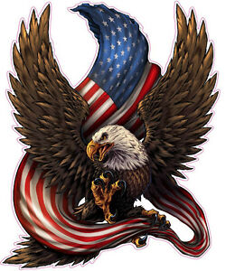 American Bald Eagle American Flag Decal Xx Large 36 Tall Decal Free Shipping