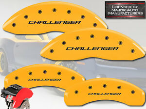 2015 2016 Dodge Challenger Scat 392 Front Rear Yellow Mgp Brake Caliper Covers