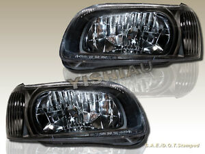 For 2000 2001 Nissan Maxima Gxe Se Gle Black Housing Headlights New