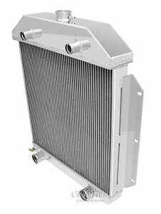 3 Row Aluminum Dr Radiator For 53 Ford Shoebox Aluminum Radiator Flathead Config