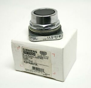 Siemens 52pa8a1a Push Button Operator Flush Cap Black 1no 1nc